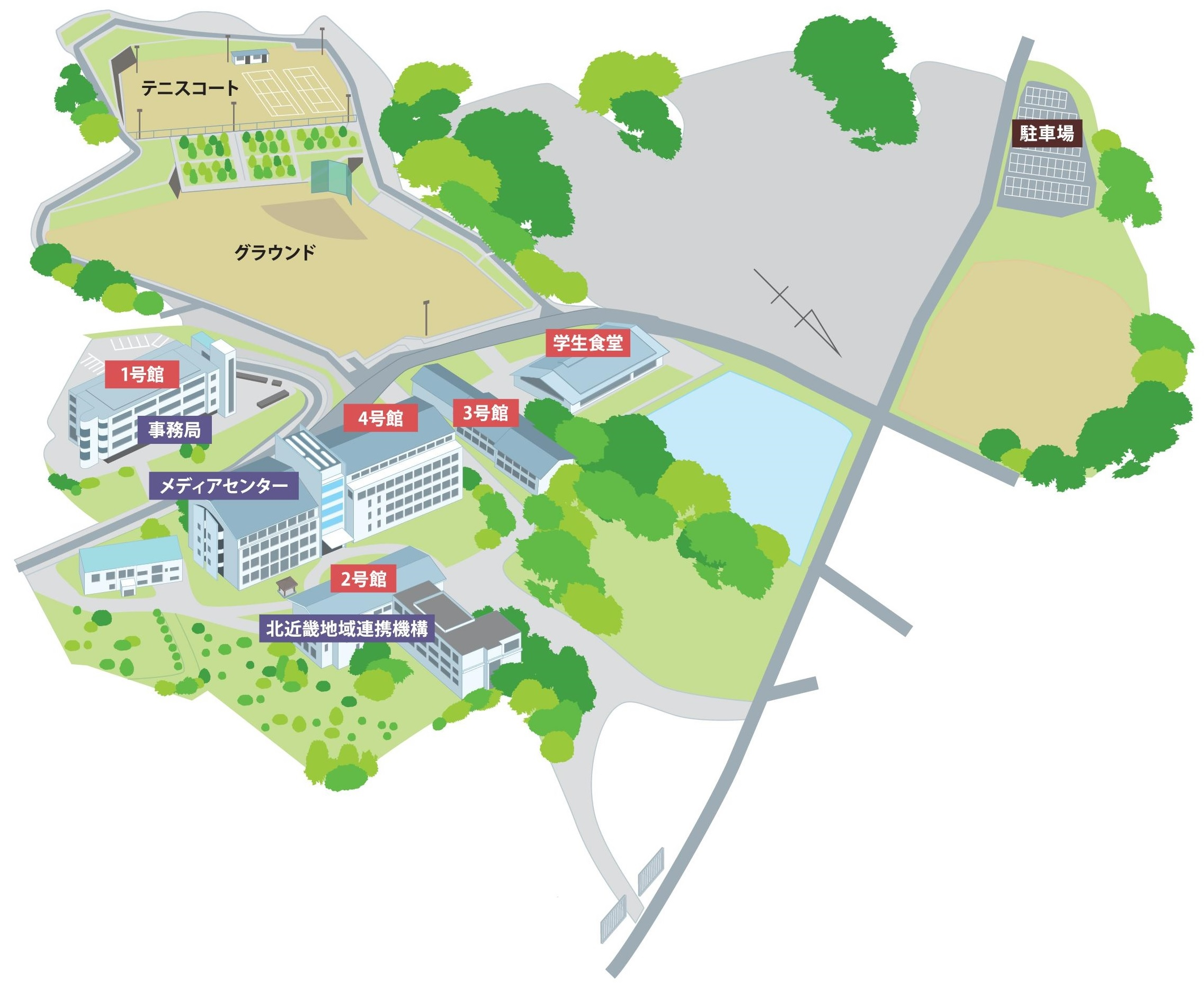 キャンパスマップ | 福知山公立大学